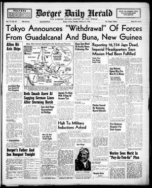 Borger Daily Herald (Borger, Tex.), Vol. 17, No. 67, Ed. 1 Tuesday, February 9, 1943