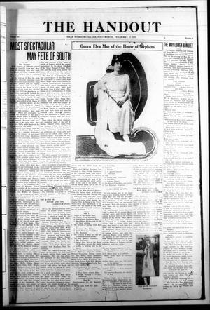 The Handout (Fort Worth, Tex.), Vol. 3, No. 6, Ed. 1 Saturday, May 17, 1919