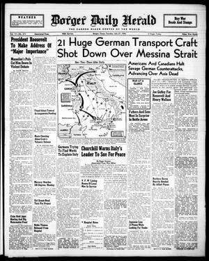 Borger Daily Herald (Borger, Tex.), Vol. 17, No. 211, Ed. 1 Tuesday, July 27, 1943