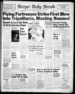 Borger Daily Herald (Borger, Tex.), Vol. 17, No. 43, Ed. 1 Tuesday, January 12, 1943