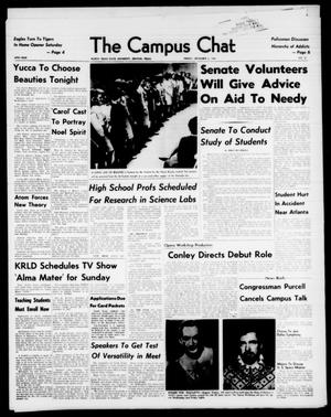 Primary view of object titled 'The Campus Chat (Denton, Tex.), Vol. 47, No. 21, Ed. 1 Friday, December 6, 1963'.