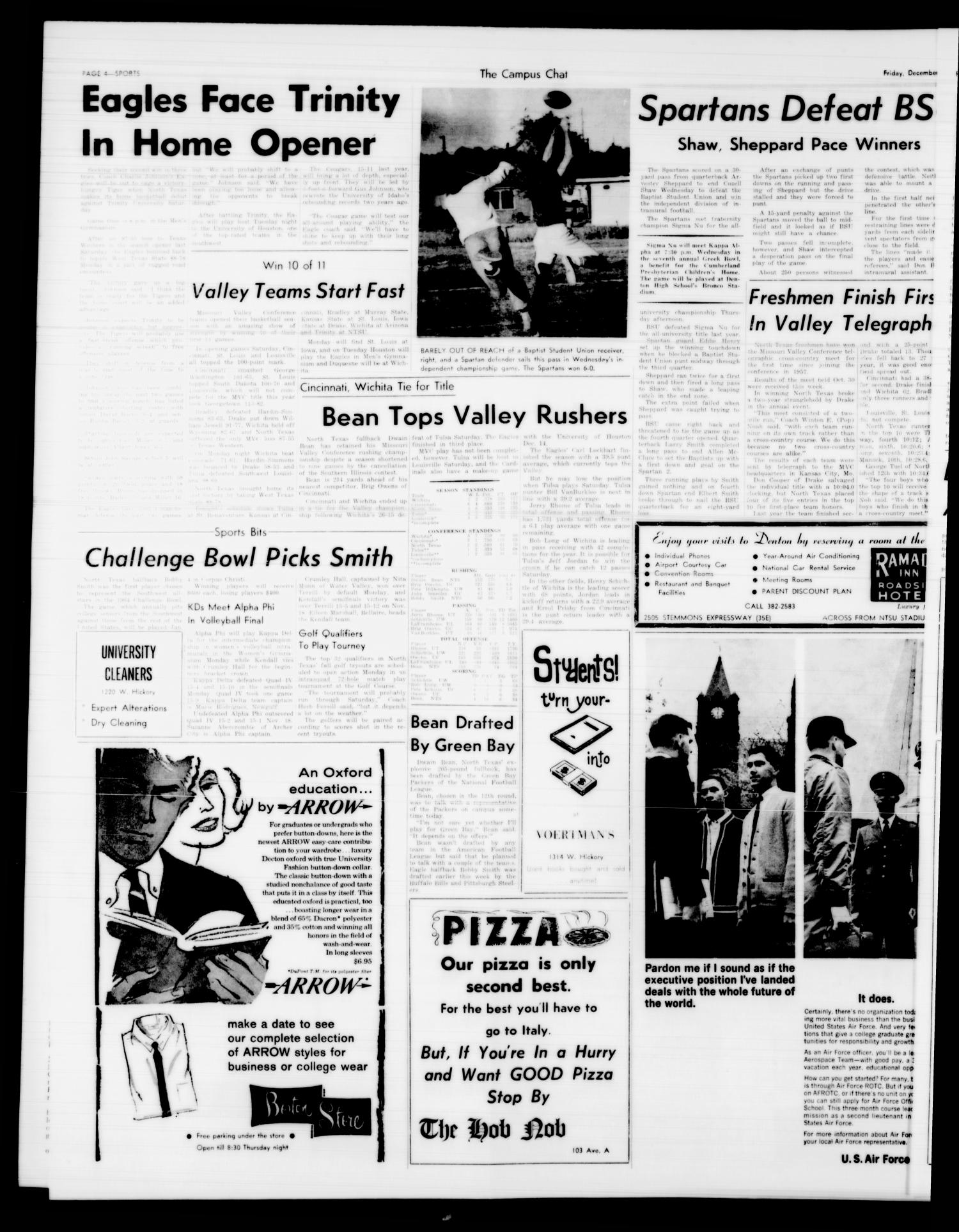 The Campus Chat (Denton, Tex.), Vol. 47, No. 21, Ed. 1 Friday, December 6, 1963                                                                                                      [Sequence #]: 4 of 6