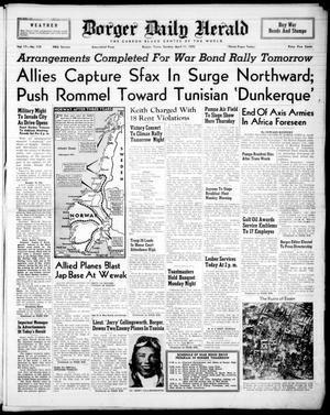 Borger Daily Herald (Borger, Tex.), Vol. 17, No. 119, Ed. 1 Sunday, April 11, 1943