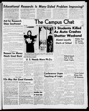Primary view of object titled 'The Campus Chat (Denton, Tex.), Vol. 47, No. 18, Ed. 1 Wednesday, November 20, 1963'.