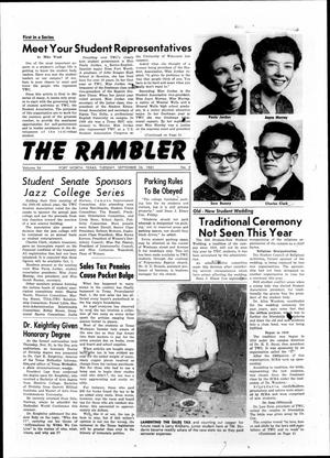 Primary view of object titled 'The Rambler (Fort Worth, Tex.), Vol. 34, No. 02, Ed. 1 Tuesday, September 26, 1961'.