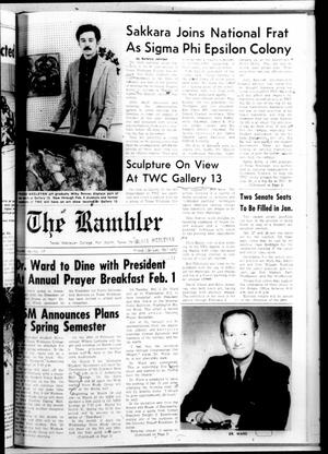 Primary view of object titled 'Texas Wesleyan Rambler (Fort Worth, Tex.), Vol. 46, No. 17, Ed. 1 Friday, January 28, 1972'.