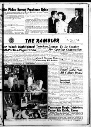 Primary view of object titled 'The Rambler (Fort Worth, Tex.), Vol. 30, No. 2, Ed. 1 Tuesday, September 24, 1957'.