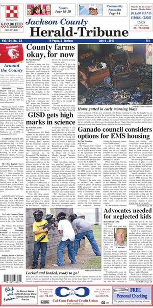 Jackson County Herald-Tribune (Edna, Tex.), Vol. 104, No. 32, Ed. 1 Wednesday, July 6, 2011