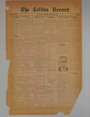 Primary view of object titled 'The Celina Record (Celina, Tex.), Vol. 30, No. 34, Ed. 1 Thursday, February 25, 1932'.