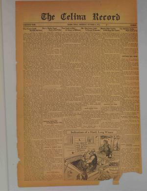 Primary view of object titled 'The Celina Record (Celina, Tex.), Vol. 30, No. [14], Ed. 1 Thursday, October 8, 1931'.