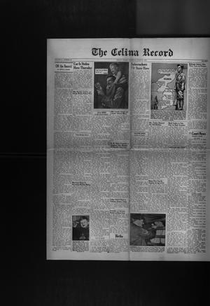 Primary view of object titled 'The Celina Record (Celina, Tex.), Vol. 51, No. 45, Ed. 1 Thursday, June 18, 1953'.