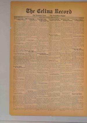 Primary view of The Celina Record (Celina, Tex.), Vol. 39, No. 35, Ed. 1 Thursday, February 20, 1941