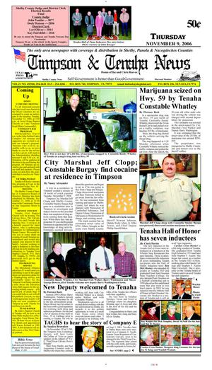 Primary view of object titled 'Timpson & Tenaha News (Timpson, Tex.), Vol. 21, No. 45, Ed. 1 Thursday, November 9, 2006'.