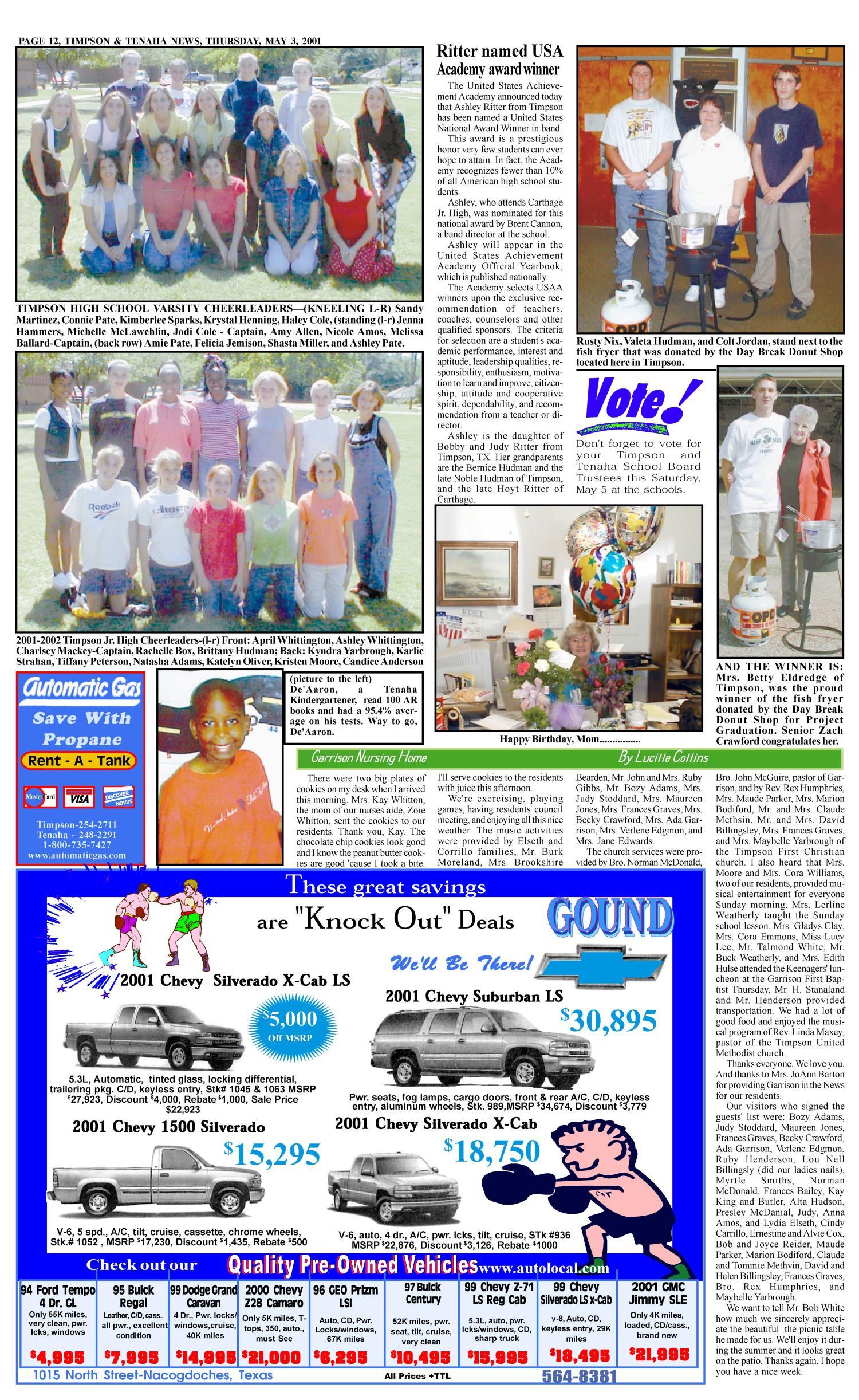Timpson & Tenaha News (Timpson, Tex ), Vol  16, No  18, Ed  1
