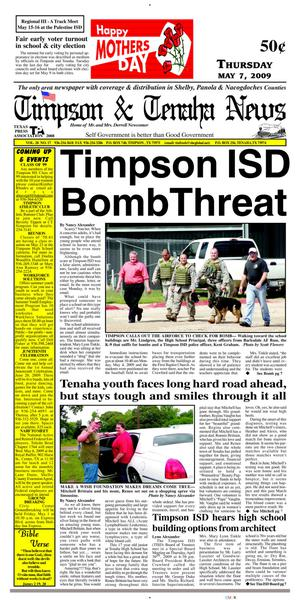 Primary view of object titled 'Timpson & Tenaha News (Timpson, Tex.), Vol. 28, No. 17, Ed. 1 Thursday, May 7, 2009'.