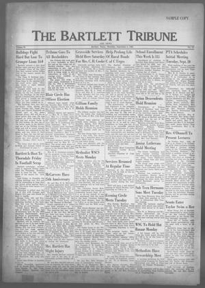 Primary view of object titled 'The Bartlett Tribune and News (Bartlett, Tex.), Vol. 73, No. 44, Ed. 1, Thursday, September 8, 1960'.