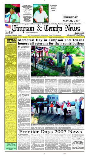 Primary view of object titled 'Timpson & Tenaha News (Timpson, Tex.), Vol. 25, No. 21, Ed. 1 Thursday, May 31, 2007'.