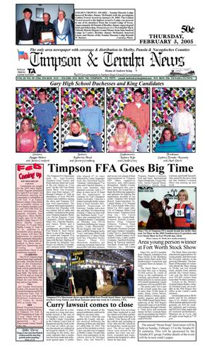 Primary view of object titled 'Timpson & Tenaha News (Timpson, Tex.), Vol. 20, No. 5, Ed. 1 Thursday, February 3, 2005'.