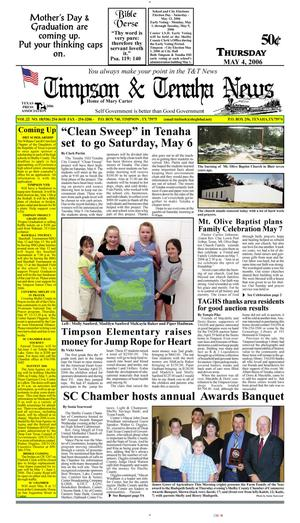 Primary view of object titled 'Timpson & Tenaha News (Timpson, Tex.), Vol. 22, No. 18, Ed. 1 Thursday, May 4, 2006'.