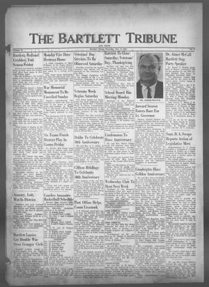 Primary view of object titled 'The Bartlett Tribune and News (Bartlett, Tex.), Vol. 75, No. 2, Ed. 1, Thursday, November 9, 1961'.