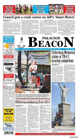 Primary view of object titled 'Palacios Beacon (Palacios, Tex.), Vol. 106, No. 36, Ed. 1 Wednesday, September 4, 2013'.