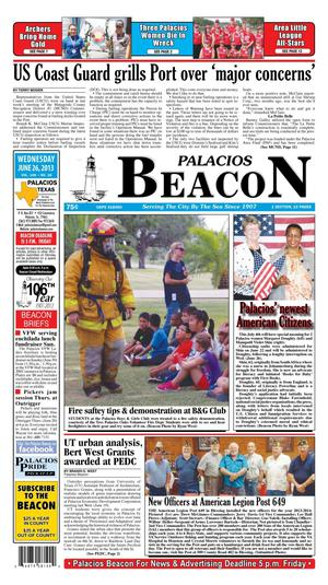 Palacios Beacon (Palacios, Tex.), Vol. 106, No. 26, Ed. 1 Wednesday, June 26, 2013