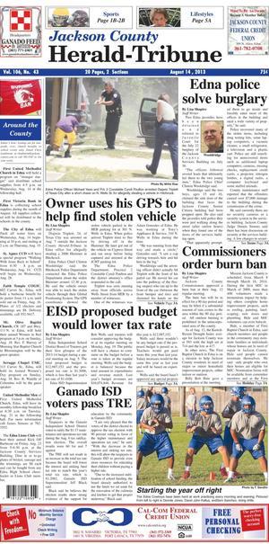 Jackson County Herald-Tribune (Edna, Tex.), Vol. 106, No. 43, Ed. 1 Wednesday, August 14, 2013