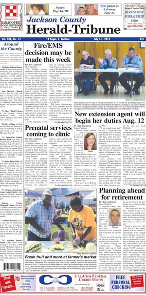 Jackson County Herald-Tribune (Edna, Tex.), Vol. 106, No. 41, Ed. 1 Wednesday, July 31, 2013