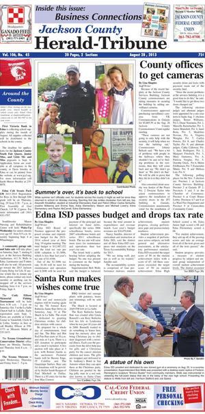 Jackson County Herald-Tribune (Edna, Tex.), Vol. 106, No. 45, Ed. 1 Wednesday, August 28, 2013
