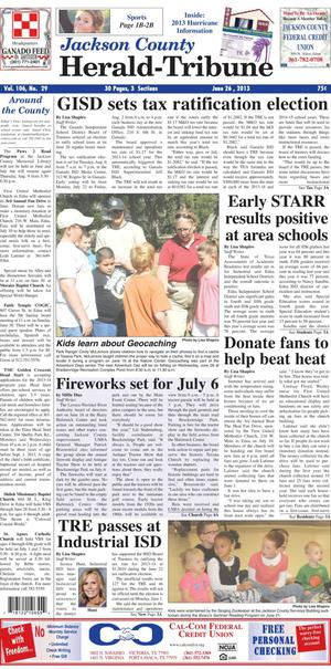 Jackson County Herald-Tribune (Edna, Tex.), Vol. 106, No. 39, Ed. 1 Wednesday, June 26, 2013