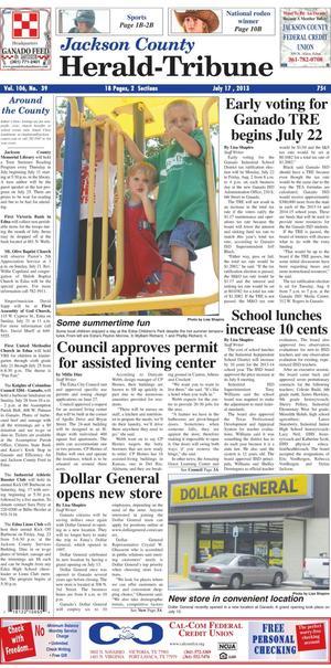 Jackson County Herald-Tribune (Edna, Tex.), Vol. 106, No. 39, Ed. 1 Wednesday, July 17, 2013