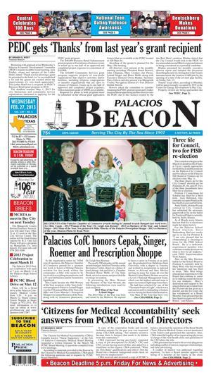 Palacios Beacon (Palacios, Tex.), Vol. 106, No. 8, Ed. 1 Wednesday, February 27, 2013