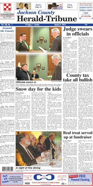 Jackson County Herald-Tribune (Edna, Tex.), Vol. 106, No. 7, Ed. 1 Wednesday, January 9, 2013