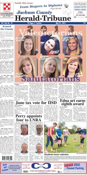 Jackson County Herald-Tribune (Edna, Tex.), Vol. 106, No. 25, Ed. 1 Wednesday, May 29, 2013