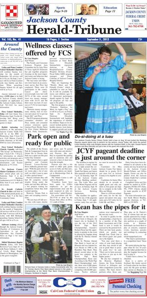 Jackson County Herald-Tribune (Edna, Tex.), Vol. 105, No. 41, Ed. 1 Wednesday, September 5, 2012