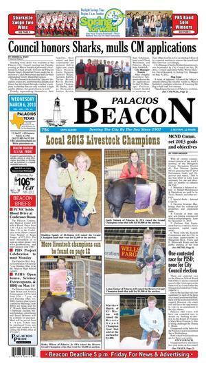 Palacios Beacon (Palacios, Tex.), Vol. 106, No. 10, Ed. 1 Wednesday, March 6, 2013