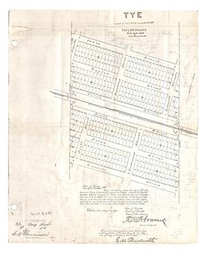 Primary view of object titled 'Tye: on part of Texas and Pacific Railway Company survey 33, Block 27'.