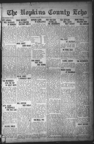 Primary view of object titled 'The Hopkins County Echo (Sulphur Springs, Tex.), Ed. 1 Friday, May 23, 1919'.