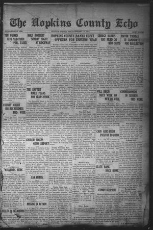 Primary view of object titled 'The Hopkins County Echo (Sulphur Springs, Tex.), Ed. 1 Friday, January 17, 1919'.