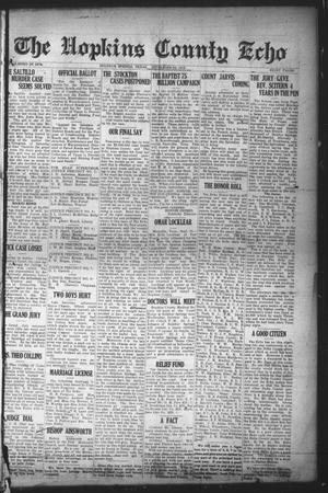 Primary view of object titled 'The Hopkins County Echo (Sulphur Springs, Tex.), Ed. 1 Friday, September 26, 1919'.