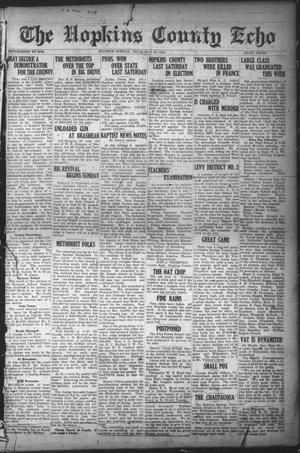 Primary view of object titled 'The Hopkins County Echo (Sulphur Springs, Tex.), Ed. 1 Friday, May 30, 1919'.