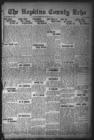 Primary view of object titled 'The Hopkins County Echo (Sulphur Springs, Tex.), Ed. 1 Friday, April 18, 1919'.
