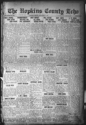 Primary view of object titled 'The Hopkins County Echo (Sulphur Springs, Tex.), Ed. 1 Friday, April 4, 1919'.