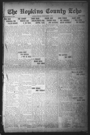 Primary view of object titled 'The Hopkins County Echo (Sulphur Springs, Tex.), Ed. 1 Friday, March 7, 1919'.