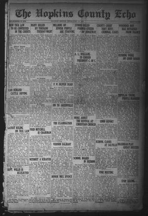 Primary view of object titled 'The Hopkins County Echo (Sulphur Springs, Tex.), Ed. 1 Monday, April 14, 1919'.