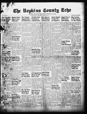 Primary view of object titled 'The Hopkins County Echo (Sulphur Springs, Tex.), Vol. 74, No. 34, Ed. 1 Friday, August 26, 1949'.