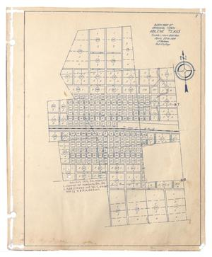 Primary view of object titled 'Block Map of Original Town, Abilene, Texas'.