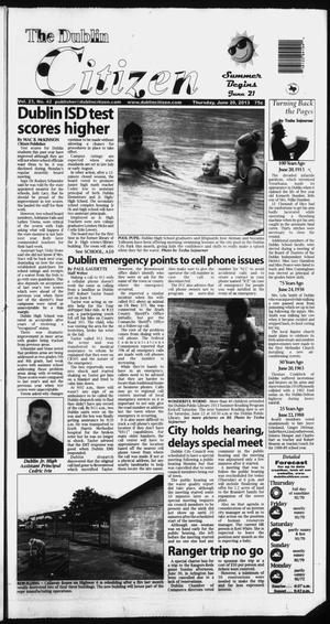 Primary view of object titled 'The Dublin Citizen (Dublin, Tex.), Vol. 23, No. 42, Ed. 1 Thursday, June 20, 2013'.
