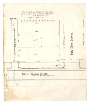 Plat of lots 5 and 6, Block 141, Abilene, Tex.