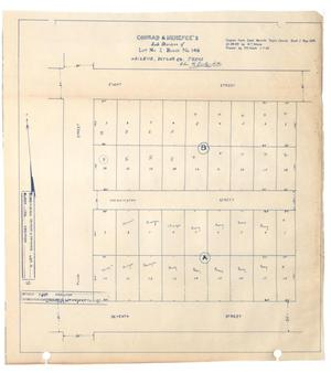 Primary view of object titled 'Conrad & Menefee's Subdivision of Lot Number 2, Block Number 146, Abilene, Taylor County, Texas [#1]'.